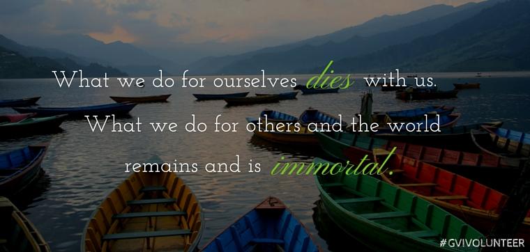 Volunteering Quotes Magnificent 9 Inspirational Travel And Volunteering Quotes  Gvi Aus