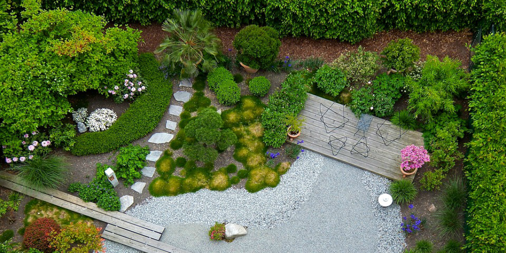 Sustainable lifestyles include recycling and reusing greywater to water gardens.