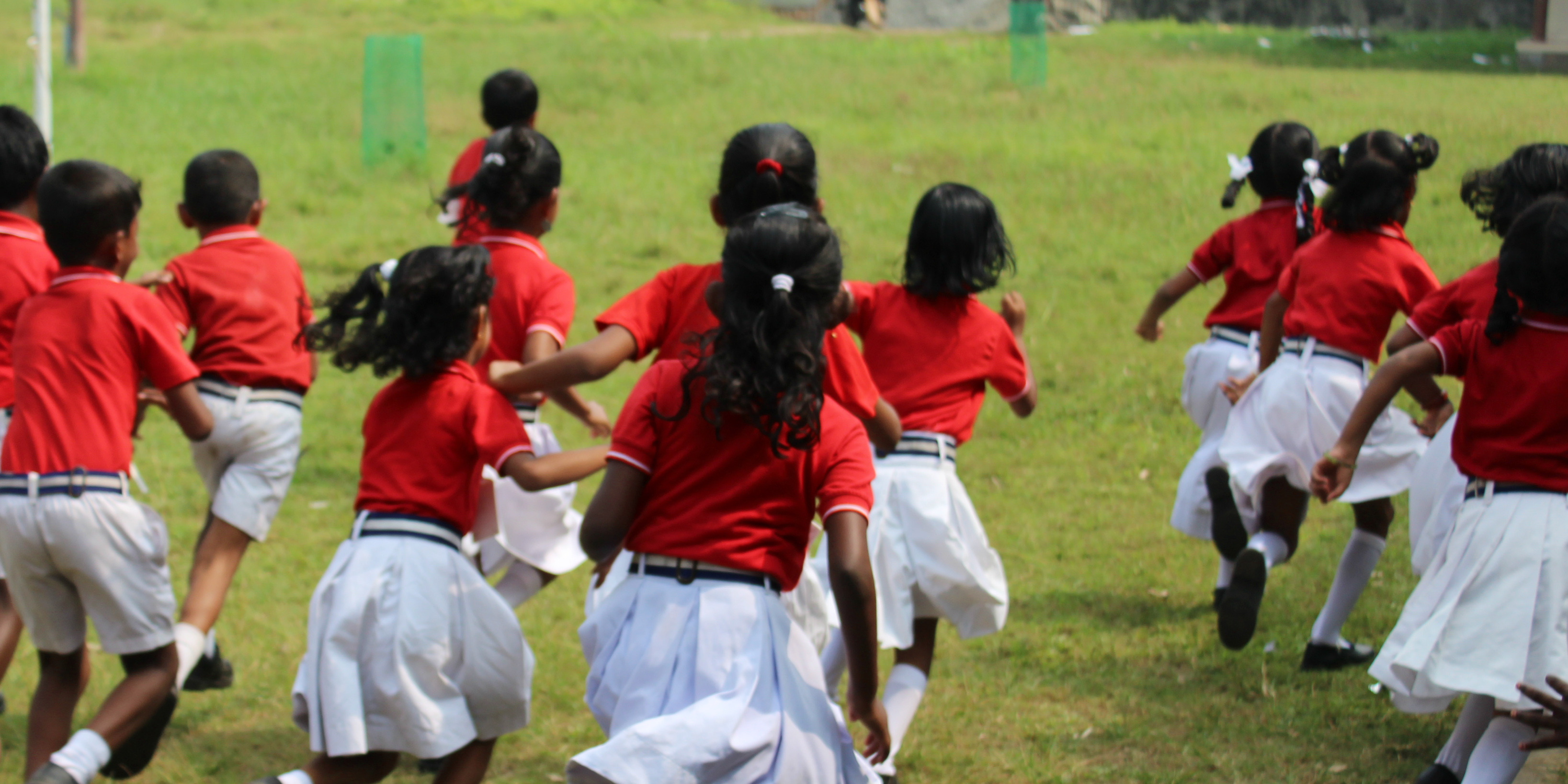 Girl students heading to class in Kerala.