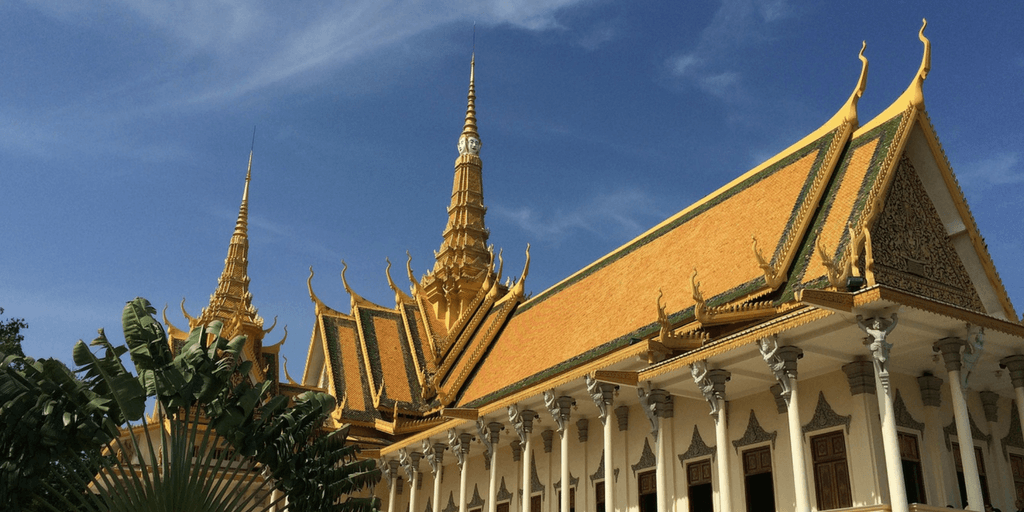 The Wat Phnom temple and royal palace is a must see in cambodia