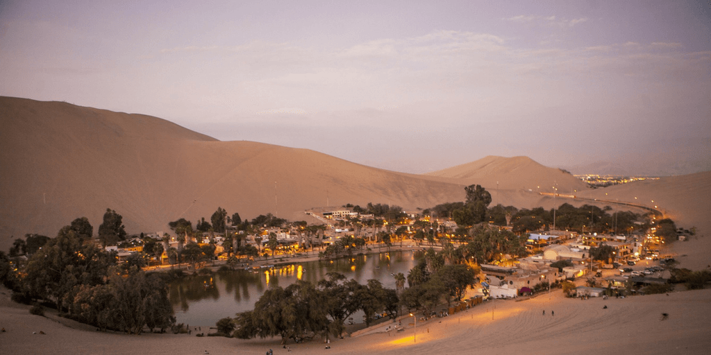 Spend time in the oasis of Huacachina.