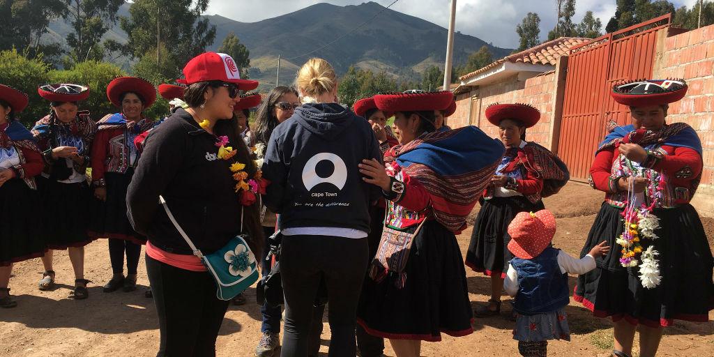 GVI volunteer adding to sustainable community development programs