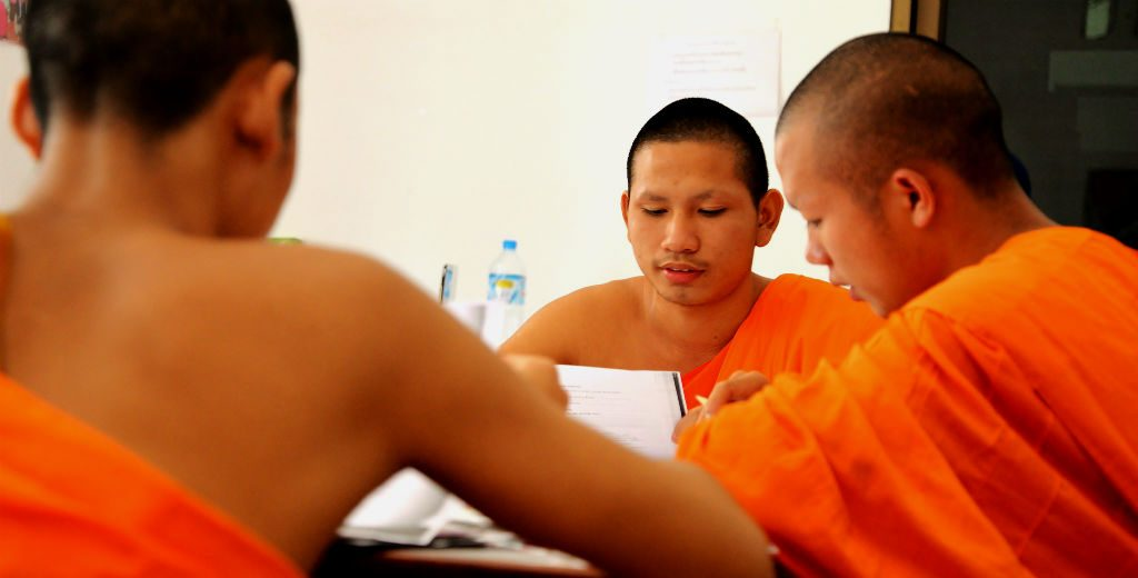 Join a GVI volunteer trip abroad in Cambodia, teaching Buddhist monks and help your resume stand out.