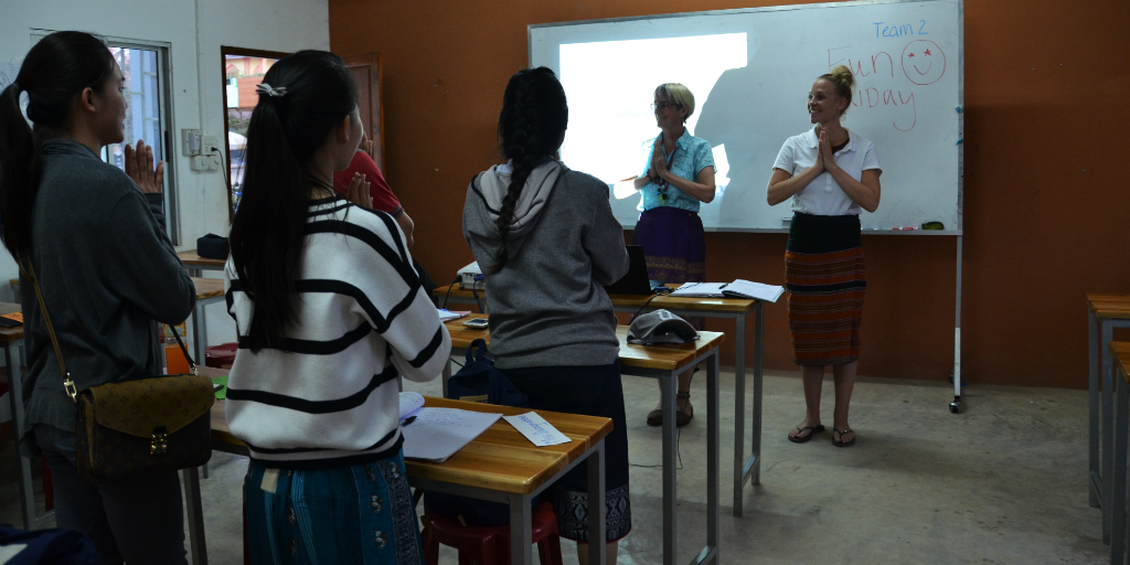 Learn more about cultural practices, such as the Wai greeting, when you volunteer in Thailand