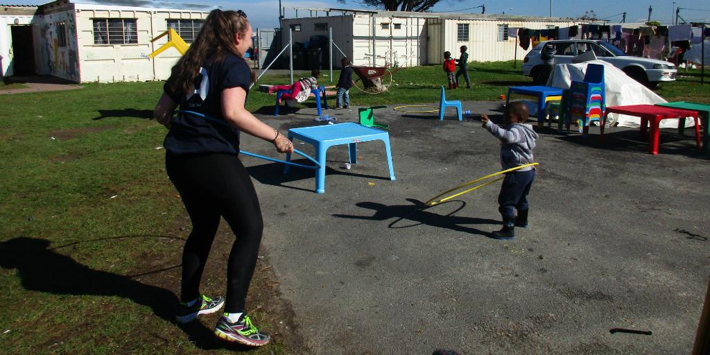 Teens volunteering abroad in Cape Town communities