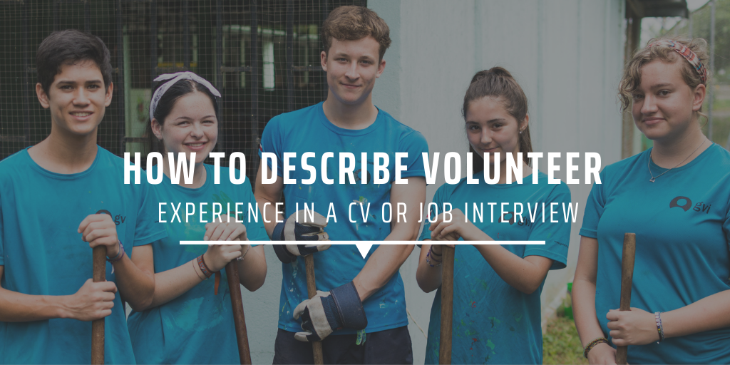 Repub HOW TO DESCRIBE VOLUNTEER EXPERIENCE IN A CV OR JOB INTERVIEW