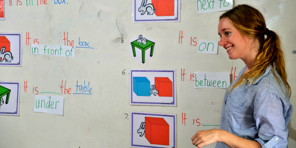 During volunteer programs in Laos, you can learn a new language