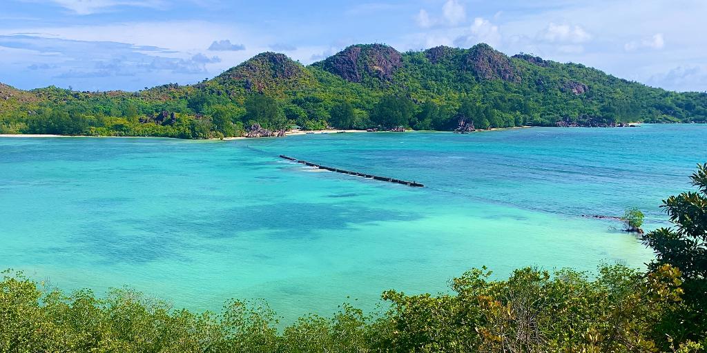 Landscape view of Seychelles