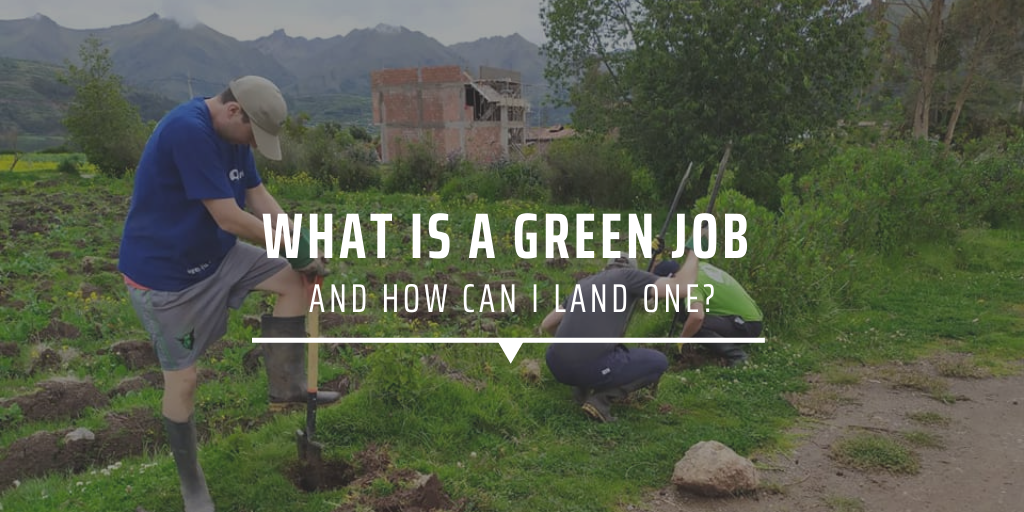 What is a green job and how can I land one?
