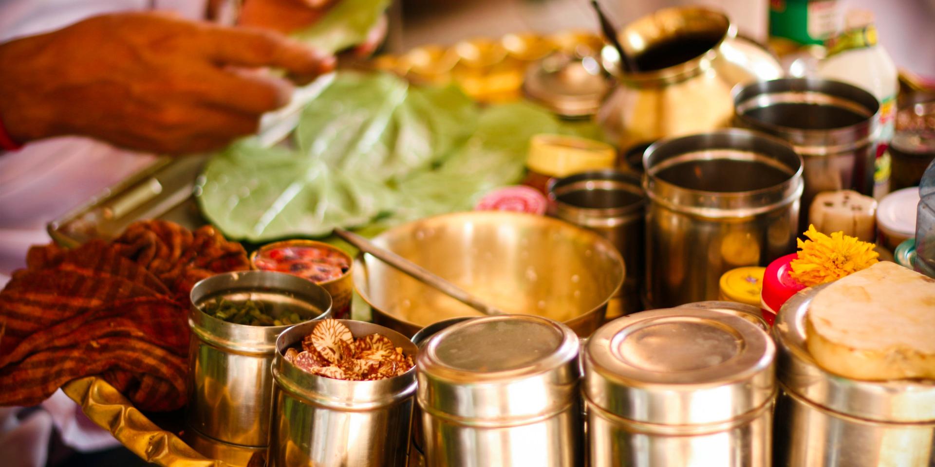 An individual prepares a meal in Kerala, India